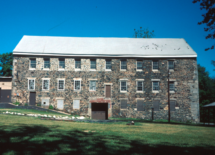 Avondale Mill in June 1978 by Elizabeth Compton, courtesy of Maryland Historic Trust (reproduced under Fair Use)
