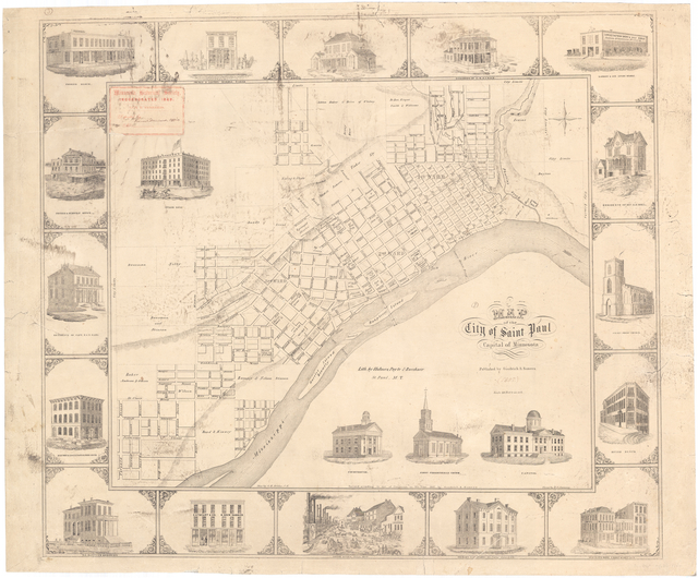 Map of Irvine Park District and West End Neighborhood (1857)