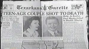 Texarkana Gazette Headline of the Phantom Killers first murder