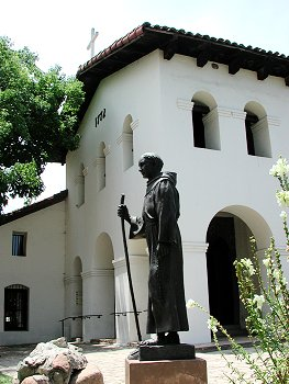 Monument to Junipero Serra.