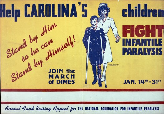 A March of Dimes ad created in support of N.C.'s fight against polio.