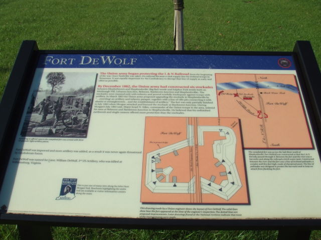 A layout of Fort DeWolf in Bullitt County, Kentucky.