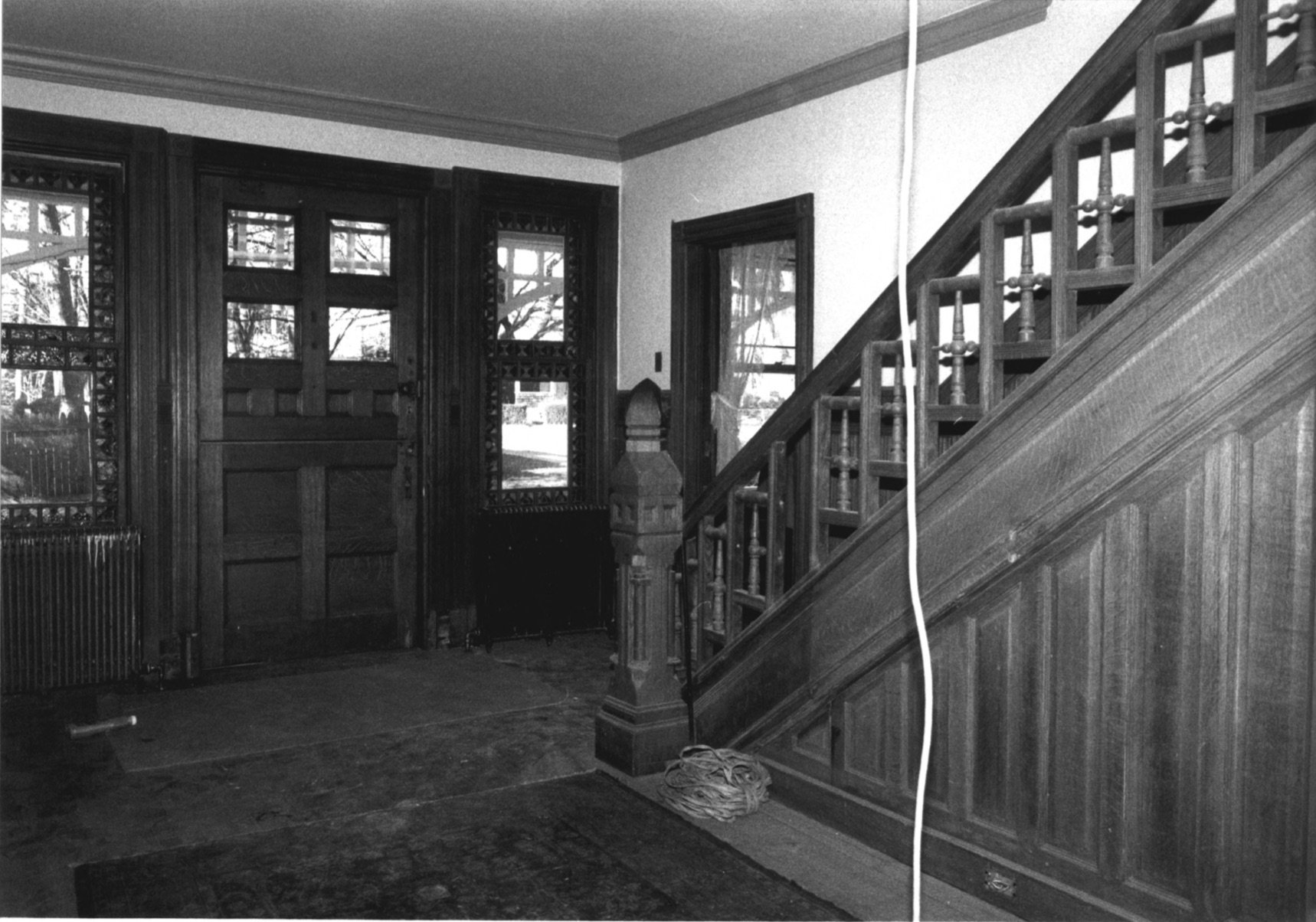 Pike House Foyer, with Ornate Windows Visible
