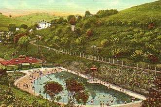 Undated sketch of the pool
