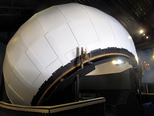 The planetarium is 22 feet wide and 25 feet tall.