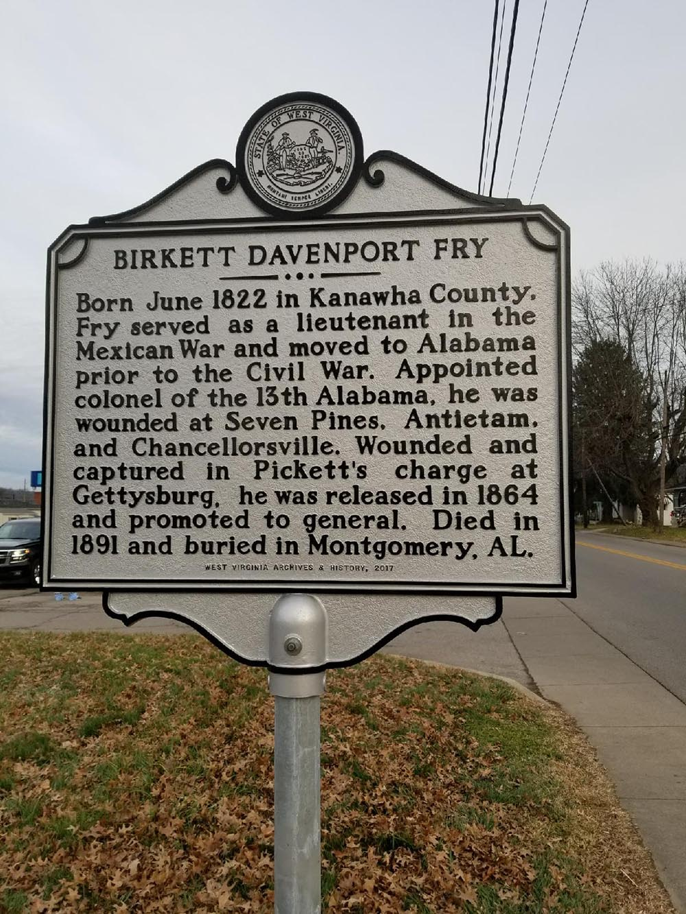 Birkett Davenport Fry Highway Historical Marker
