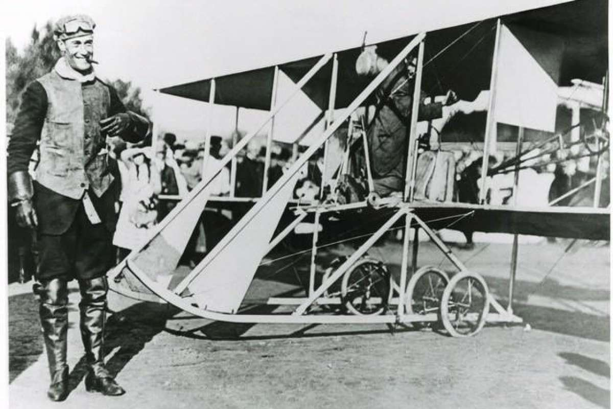 Cal Rodgers and Wright B Flyer