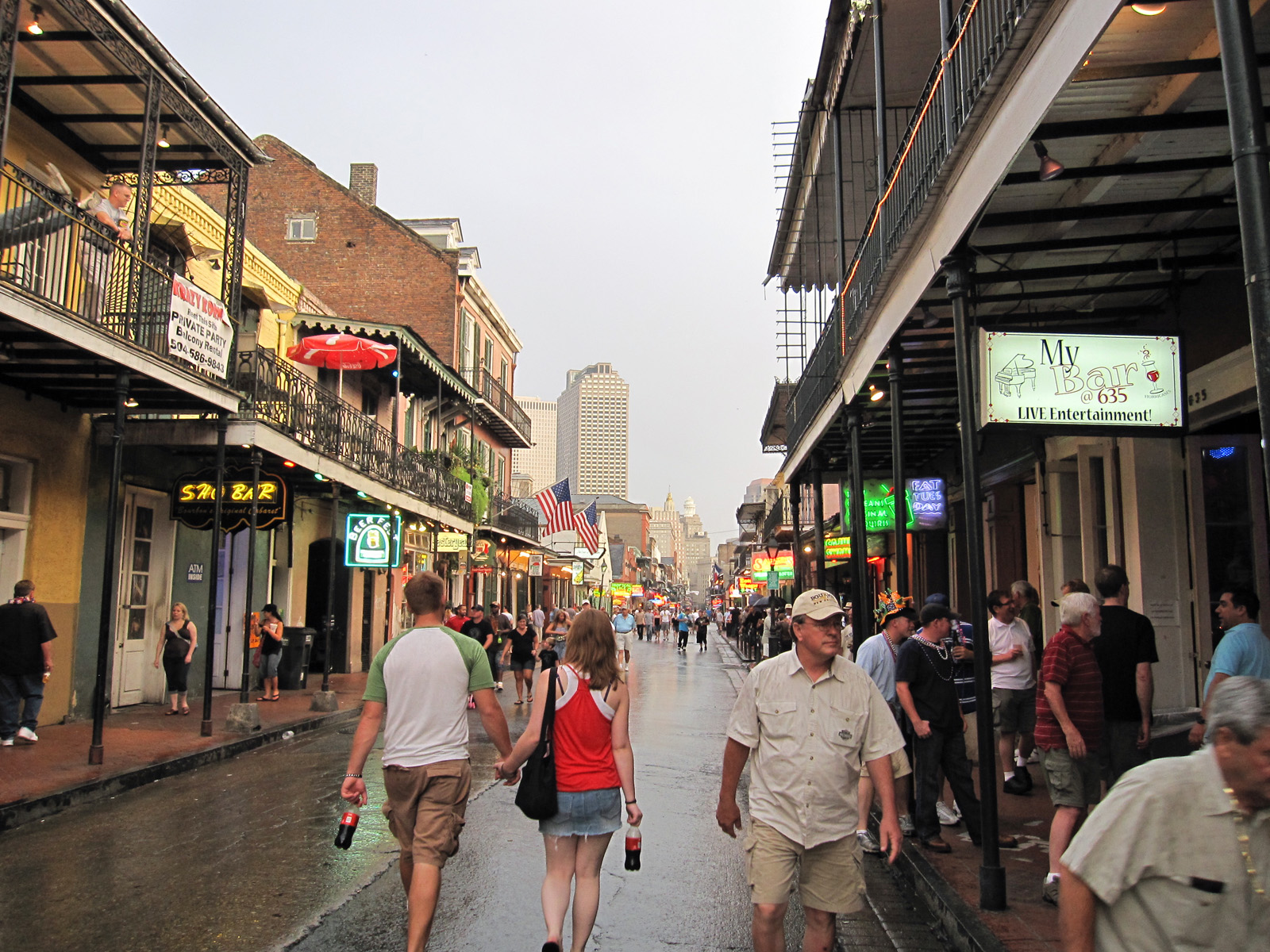 Bourbon Street during the day.
