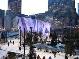 Maggie Daley Park Skating Ribbon in mid December.
