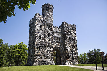"This 56-foot ""castle"" was built in 1900 in honor of historian and statesman George Bancroft."