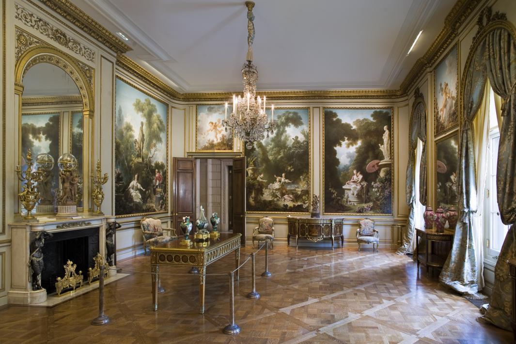 View of the Fragonard room.