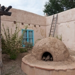 The Outside Beauty: Carson's Courtyard and Adobe Stove