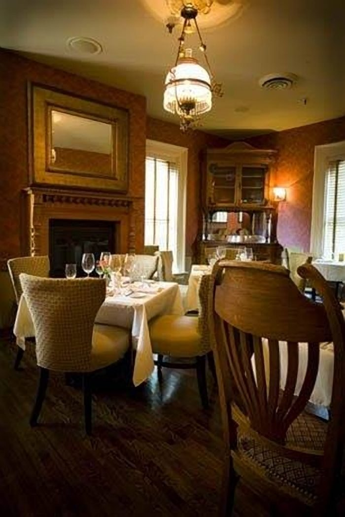 one of the dining areas in Forepaugh's Restaurant