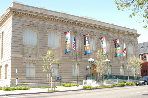 This is the building that is the African American Museum and Library of Oakland. This building was a huge library back in the 1900s and stopped being used until they opened it again for AAMLO.