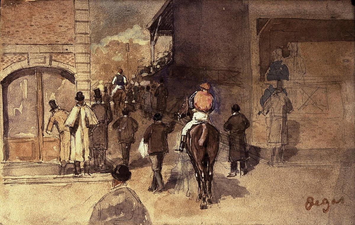 La Sortie de Pesage (Degas)