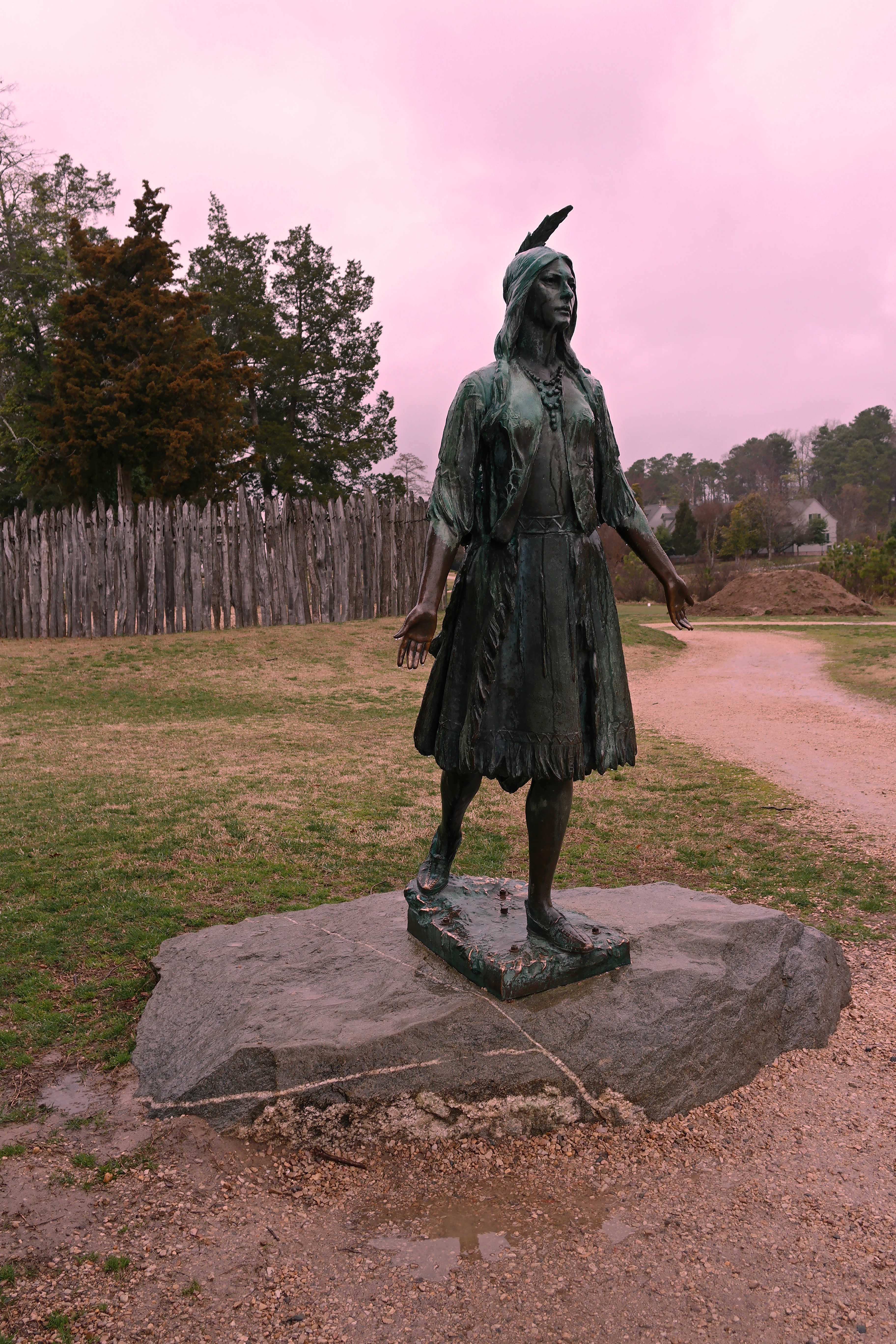 Pocahontas, Historic Jamestown photograph by Smash the Iron Cage on Wikimedia Commons (CC BY-SA 4.0)