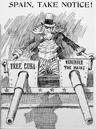 This political cartoon stresses the Spain perspective--blaming the United States--of the explosion of the USS Maine, which is crucial to relay the central idea that how someone remembers the USS Maine depends on their sociocultural background.