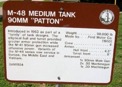 M-48 Medium Tank Historical Marker https://www.hmdb.org/marker.asp?marker=31804