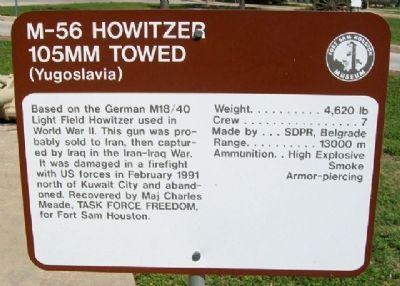 M-56 Howitzer Historical Marker https://www.hmdb.org/marker.asp?marker=31688