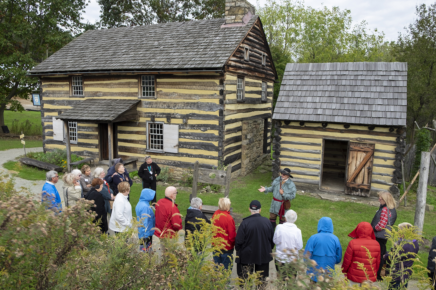 Visitors to Historic Hanna's Town can enjoy guided tours from May - October and educational programs and events throughout the year.