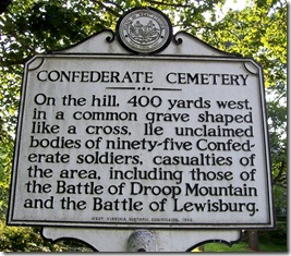 Confederate Cemeterty Historical Marker