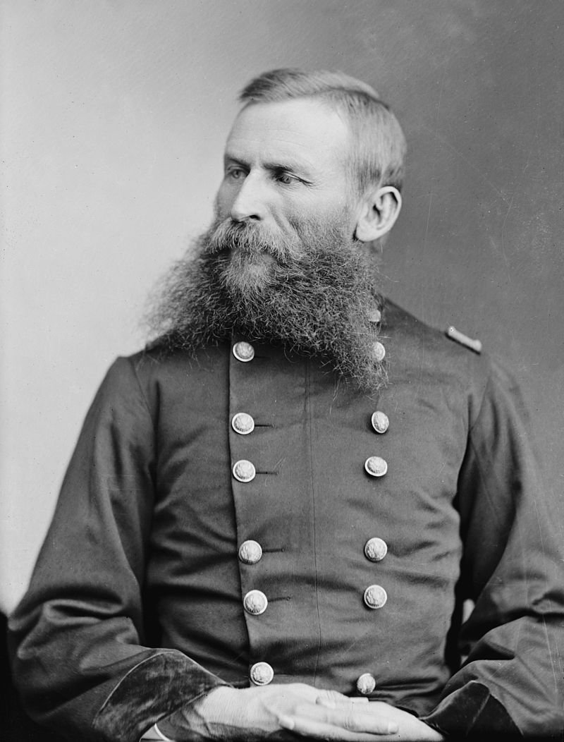 Col. George Crook, Union commander at the Battle of Lewisburg.  After the Civil War he went on to be an important military figure in the Indian Wars, in which he led campaigns against the famous chieftains Cochise and Geronimo.