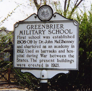 Greenbrier Military School Historical Marker