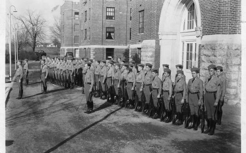 Students in formation, 1936