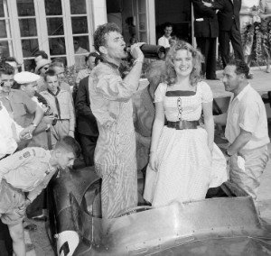 Carroll Shelby after winning Le Mans in 1959.