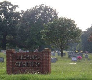 Sign located on the east side of the cemetery.