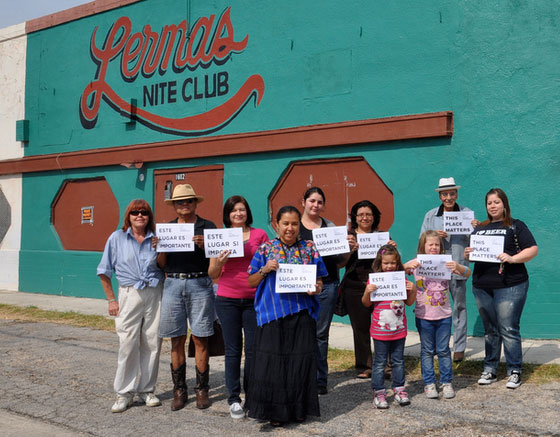 The local community supporting Lerma's Nite Club.