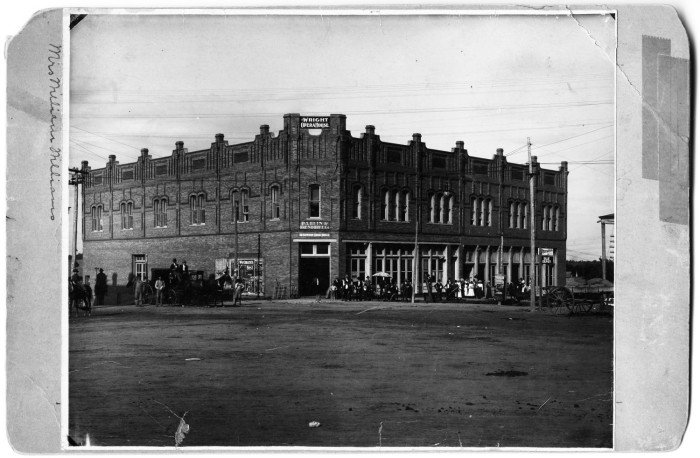 Another view of the Wright Opera House and the Parlin and Orendorff Company. Date unknown.