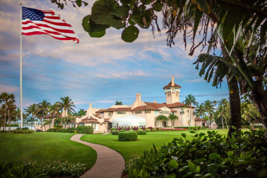 Front view of Mar-a-Lago. Photo from the Mar-a-Lago website.