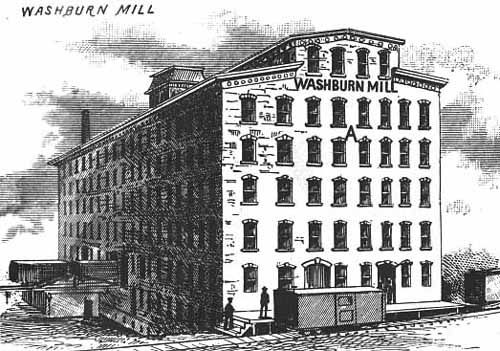 "A histoirc print of the Washburn ""A"" Mill, from the Northwestern Miller, October 15, 1882."