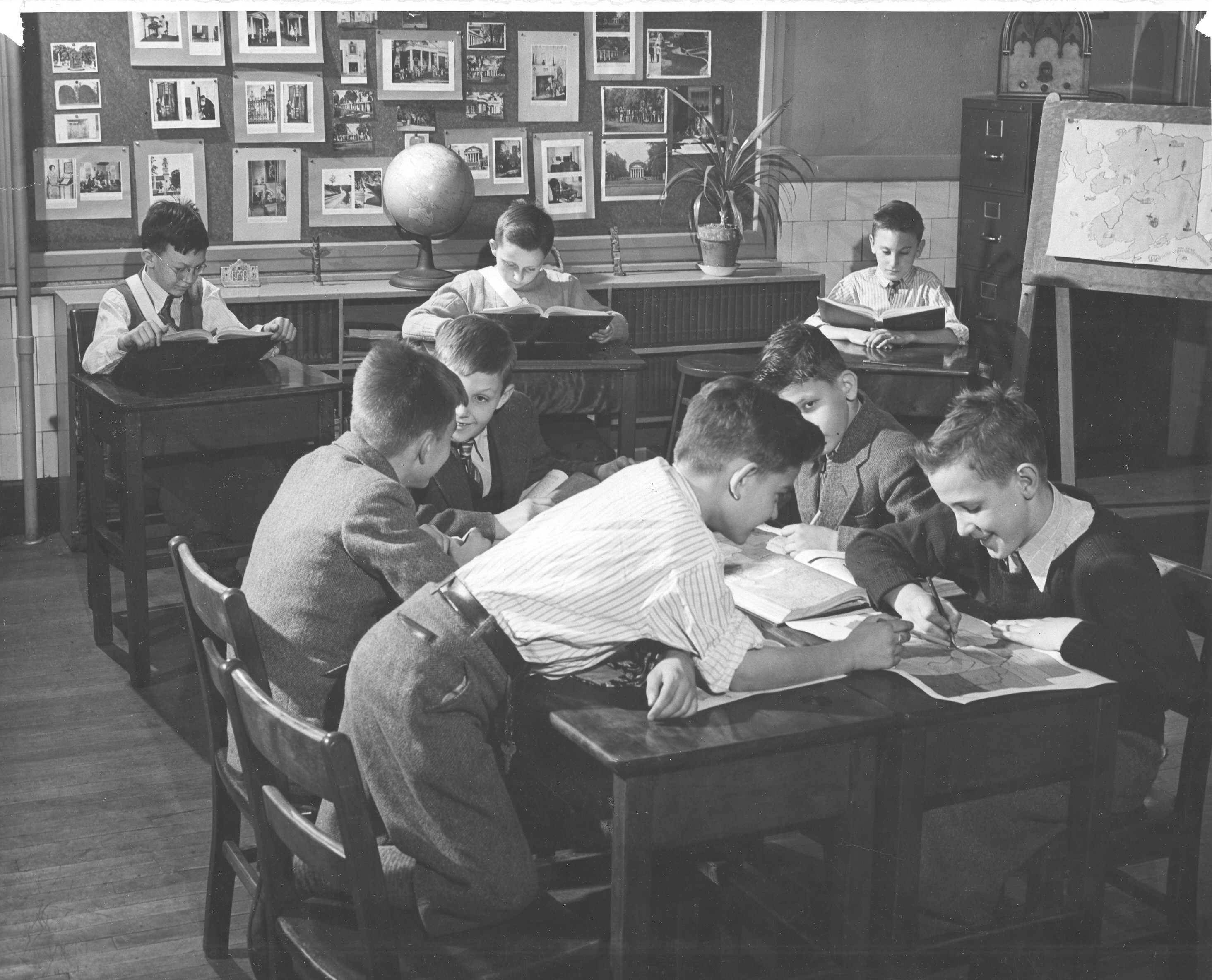 Mid 20th-century Junior school classroom.
