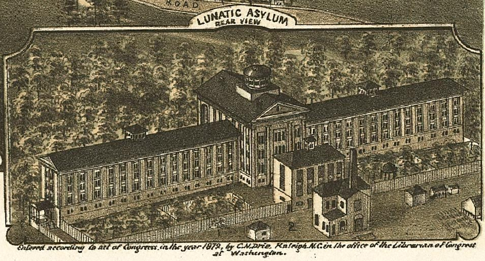 The original image of the hospital Dorothea Dix worked to establish in Raleigh, North Carolina