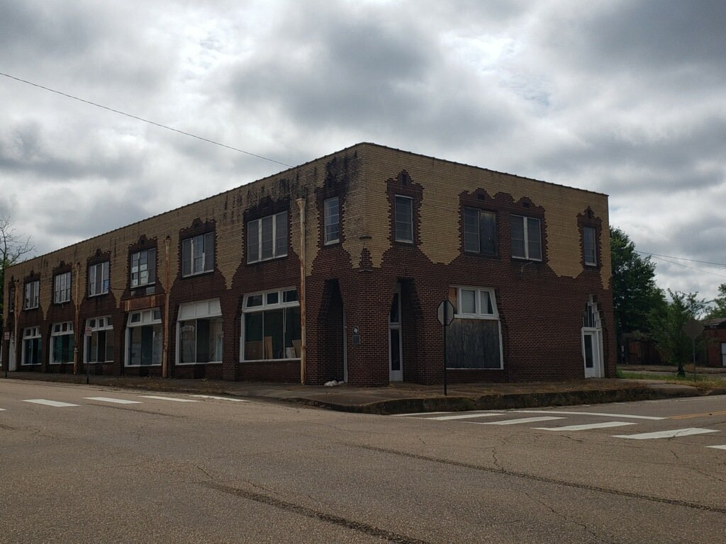 The Jamison building on May 5, 2019. The building still features the red and sand-colored brick as the day it debuted in 1930, this interesting design of the bricks is something that stands out about the building.