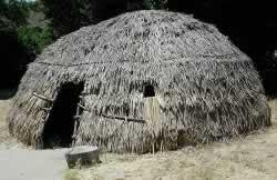 Replica of Chumash hut on La Purisima State Historic Park grounds.