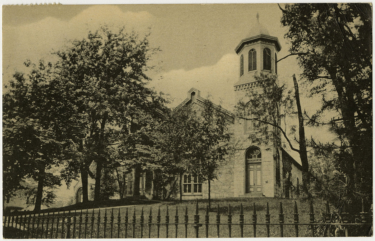 The Presbyterian Church of Falling Spring in a pre-1923 postcard. Courtesy of Herald-Mail Media.