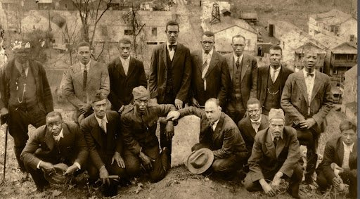 African American World War I veterans from McDowell County, WV. Photo courtesy of Reed College, WVU.