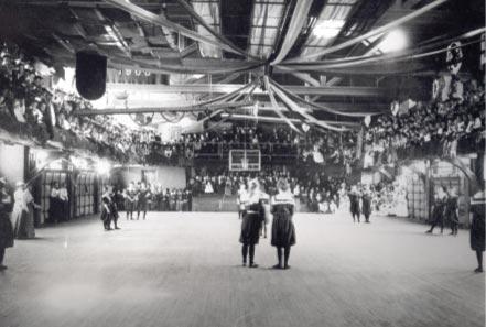 This is the Alumnae Gymnasium hosting a women's basketball game in 1901. http://print.positronicdesign.com/portfolio/portfolio-print-postcards-smith-college-athletics/
