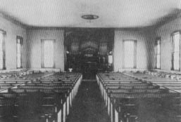 Interior of the First Lutheran Church. Courtesy of First Lutheran Church.