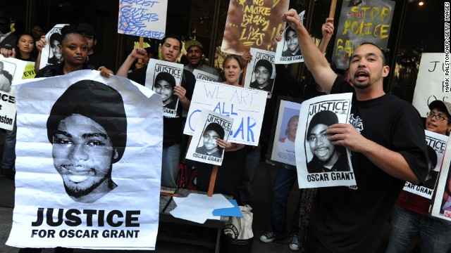 After Mehserle only serving 11 months of a two year sentence, protesters began to demand justice for the death of Oscar Grant.