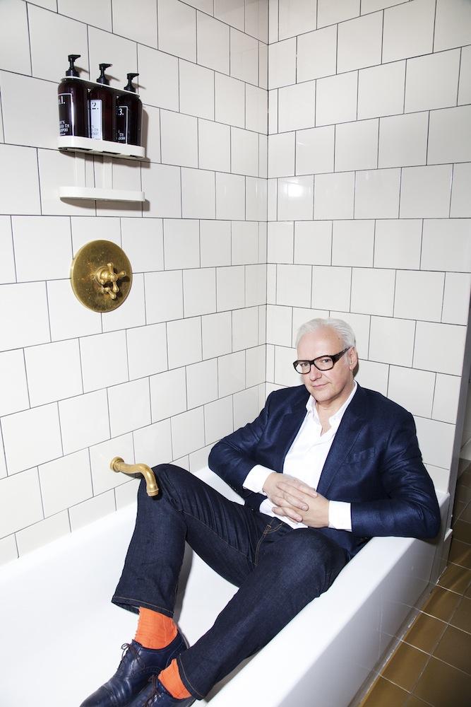Picture taken of Tony Tasset for Interview Magazine.