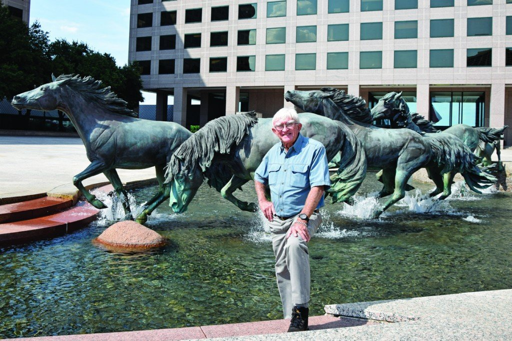 "Robert Glen pictured on the ""thirty-plus-one year anniversary"" of the creation of The Mustangs of Las Colinas. The original anniversary was postponed due to local construction. October 27th, 2015."