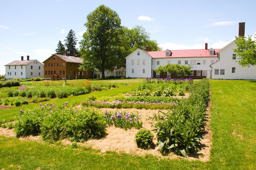 The gardens within the village are maintained by local volunteers and the produce is sold to the public.