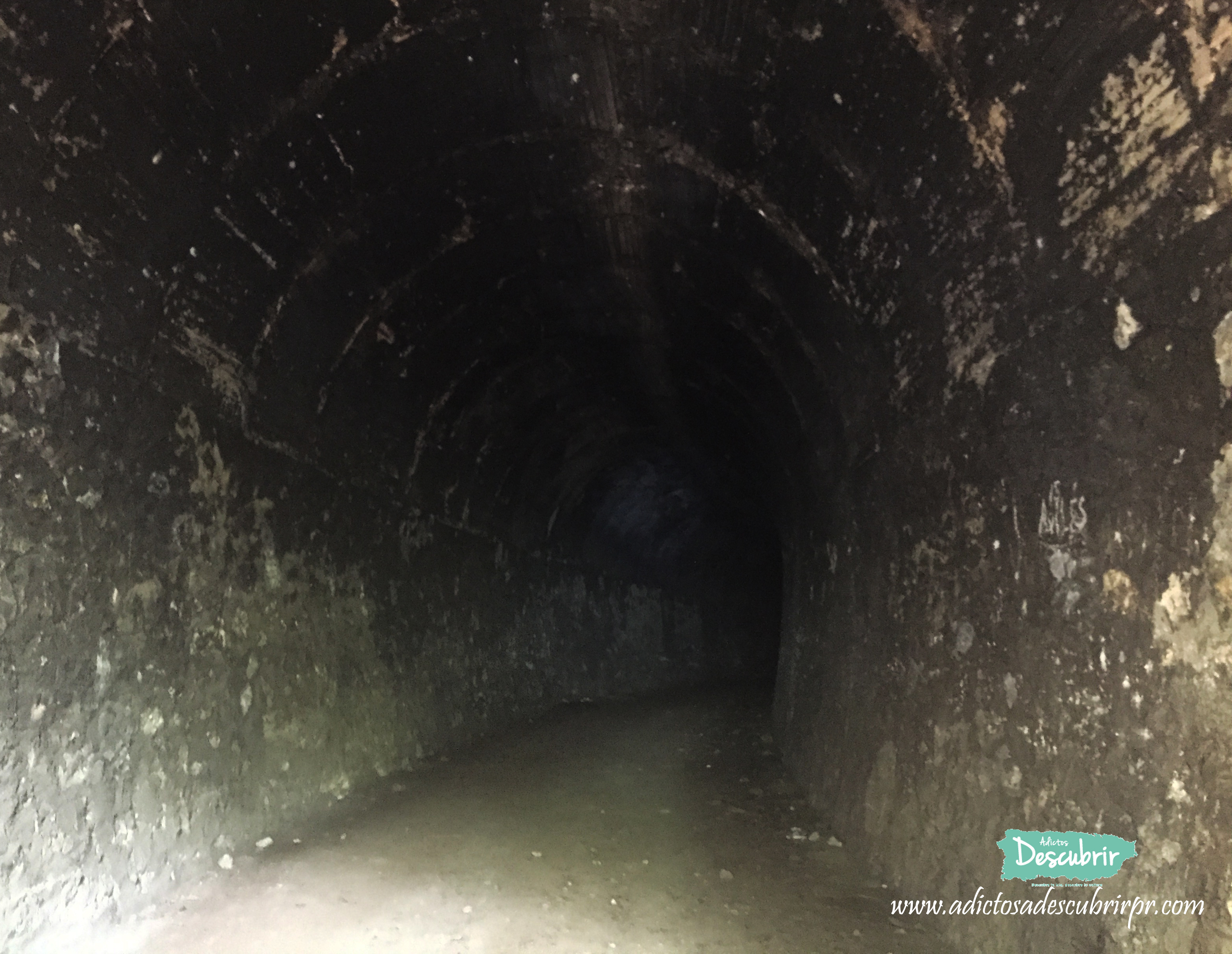 This is the curvature of the tunnel. Thanks to this curvature, the tunnel is dark and for this reason it is called The Black Tunnel.