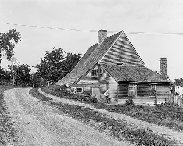 The house as it looked in 1900, when Northwest Road was nothing more than a dirt track.