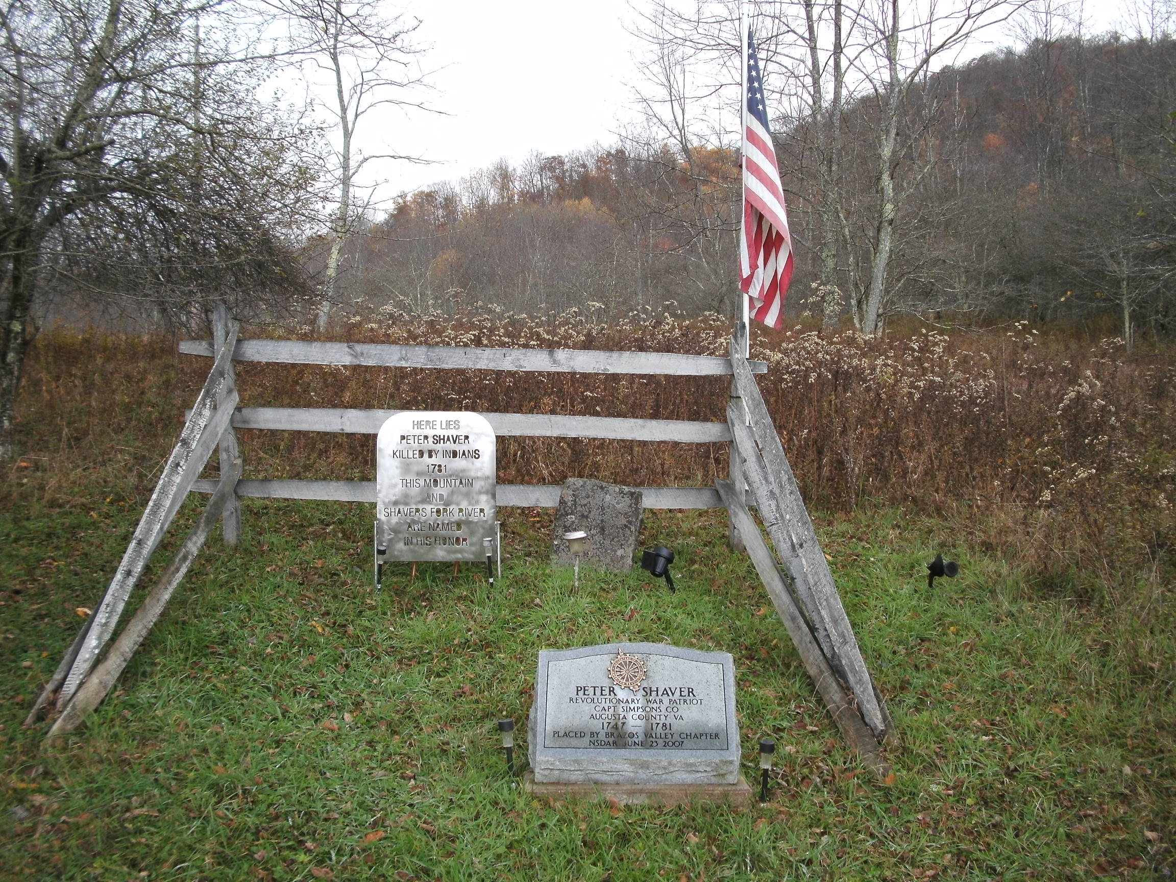 Shaver's grave.  (photo by Steven Hart)