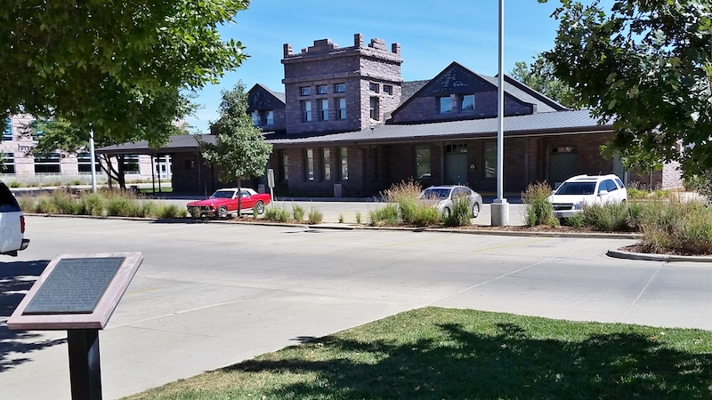 The Illinois Central Passenger Depot was built in 1888 and is a fine example of Queen Ann architecture.